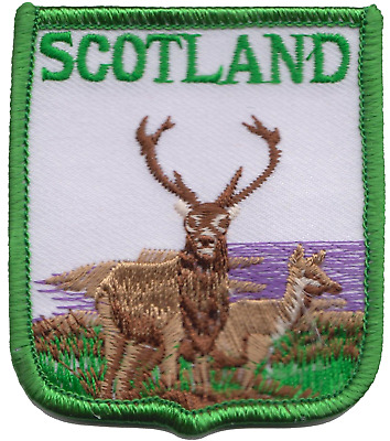 Scotland Scottish Stag Flag Embroidered Patch Badge