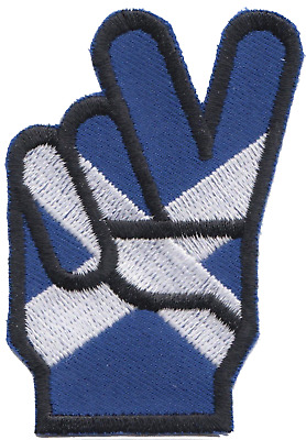 Scotland Scottish Saltire Victory Embroidered Patch Badge