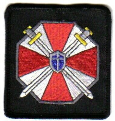 Resident Evil Umbrella Corporation Logo Shoulder Embroidered Patch, NEW UNUSED