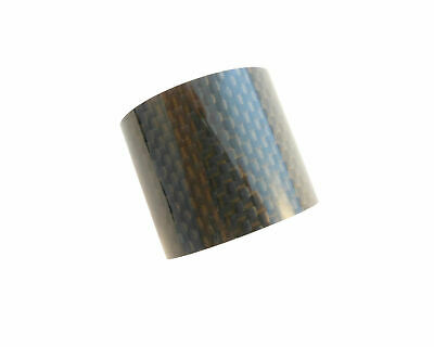 "Carbon Headset Spacer 30mm x 1-1/8"" x 35mm 3k Weave Gloss Prestine"