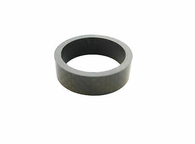 """Carbon Headset  Spacer 10mm x 1-1/8"""" x 35mm 3k Weave Gloss Prestine"""
