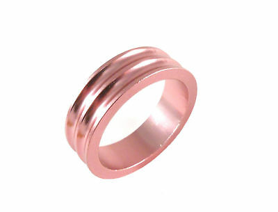 """Headset Spacer 1-1/8"""" x 10mm Anodised Pink Concave Dorcus"""