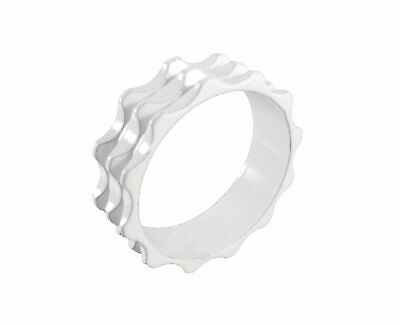"""Headset Spacer 1-1/8"""" x 10mm White Serrated Dorcus"""