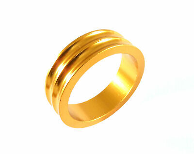 "Headset Spacer 1-1/8"" x 10mm Anodised Gold Concave Dorcus"