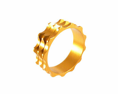 "Headset Spacer 1-1/8"" x 10mm Anodised Gold Serrated Dorcus"