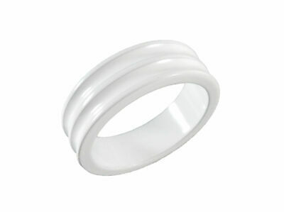 "Headset  Spacer 1-1/8"" x 10mm White Concave Dorcus"