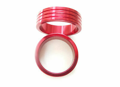 "Headset Spacers CNC Anodised Aluminium (pair) 1-1/8"" x 10mm x 35mm Red PT67E"