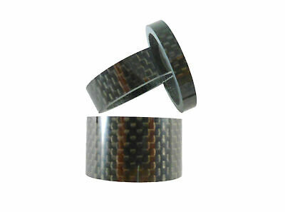 "Carbon Headset Spacer Set 1-1/8"" x 35mm 3k Weave Gloss Prestine"