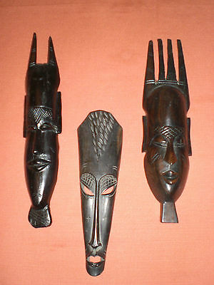 3 Masques Africains Anciens