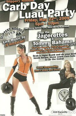 2009 Carb Day Luau Party Jagermeister Grid Girls Indy 500 Indy Car postcard