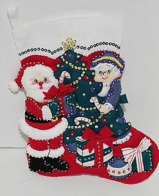Bucilla Santa & Mrs. Claus Christmas Stocking 33591