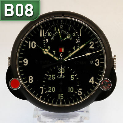 RUSSISCHE BORDUHR B-Uhr | RUSSIAN AIRCRAFT BOARD CLOCK Chronograph B08