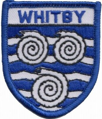 Whitby North Yorkshire County Flag Embroidered Patch Badge