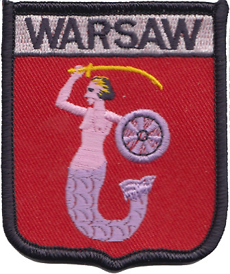 Poland Warsaw City Coat of Arms Shield Embroidered Patch
