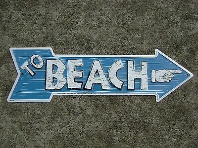 Beach Aluminum Stamped Sign Nautical Maritime Beach Decor