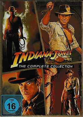 5 DVDs *  INDIANA JONES - THE COMPLETE COLLECTION - Harrison Ford  # NEU OVP +