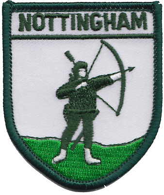 Nottingham City Robin Hood Shield Flag Embroidered Patch Badge