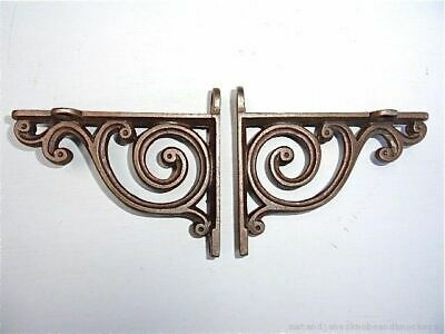 Pair Small Victorian Style Cast Iron Simple Brackets Shelf Bracket Cistern  V1