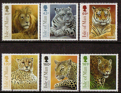 Isle Of Man 2013 Big Cats Of Africa Set Of 6 Unmounted Mint
