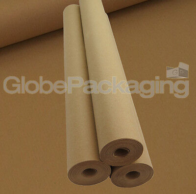 450mm x 25M HEAVY DUTY STRONG BROWN KRAFT WRAPPING PAPER ROLL 88gsm - 25 METRES