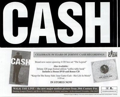 CASH 2005 Johnny Cash legendary promotional sticker New Old Stock Flawless
