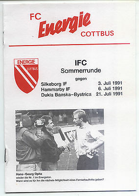 IFC 03.07.1991 FC Energie Cottbus - Silkeborg IF, InterToto Cup
