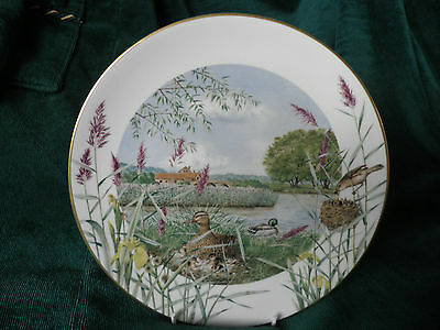ROYAL WORCESTER CABINET PLATE 'JULY BESIDE the RIVER' - LTD EDITION