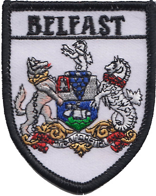 Belfast City Northern Ireland Shield Flag Embroidered Patch Badge