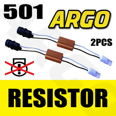2 X T10 501 W5W 194 Canbus No Error Led Load Resistors Warning Sidelight Obc Kit