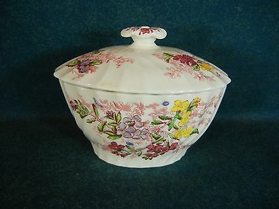 "Copeland Spode Fairy Dell 3 3/8"" Covered Sugar Bowl with Lid"