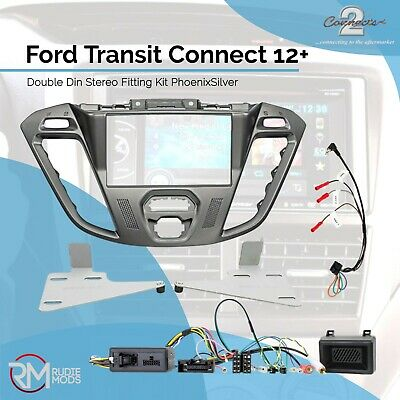 Connects2 Ford Transit Connect 12 on Double Din Stereo Fitting Kit PhoenixSilver
