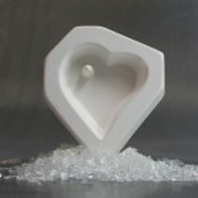 Holey Casting Heart Mold for Fusing Glass Frit LF62