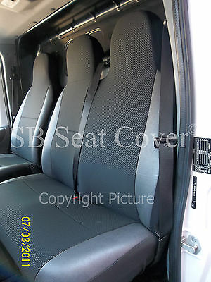 DELUXE BLUE PIPING VAN SEAT COVERS SINGLE Ford Transit T280 TDCi DOUBLE