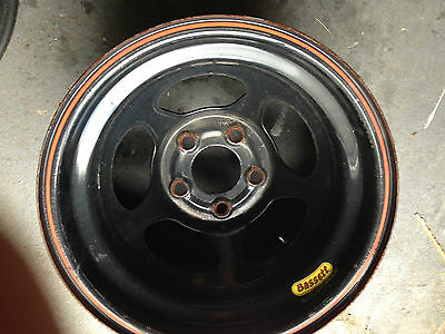 "BASSETT INERTIA RACING WHEEL BLACK 15X10 4.5""BS 5ON5 BOLT (1 Wheel) IMCA AERO"