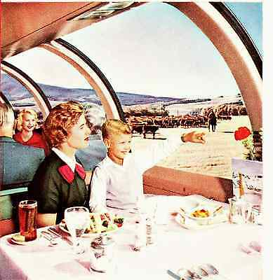 1959 Ad ~ UNION PACIFIC Railroad RR ~ Domeliner Dining car, Lounge