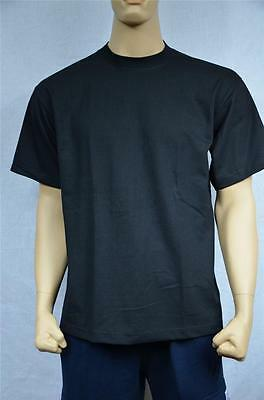 6 New Shaka Wear Super Max Heavy Weight T-Shirts Black Tee Plain Blank S-7Xl