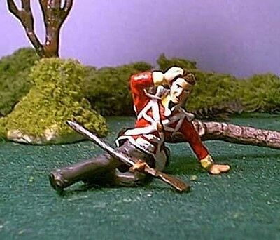 TOY SOLDIERS TIN WAR OF 1812 WOUNDED BRITISH / NAPOLEONIC SOLDIER 54MM