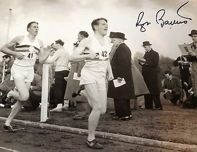 Sir Roger Bannister - First Sub 4 Minute Mile -  Brilliant Signed B/W Photograph