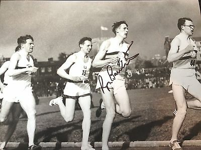 Sir Roger Bannister - First Sub 4 Minute Miler -  Superb Signed B/W Photo