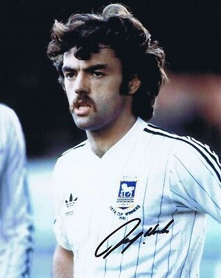 John Wark - Former Ipswich Town Footballer - Brilliant Signed Colour Photo