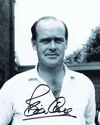 Brian Close - Great Yorkshire & England Cricketer - Signed B/w Photo