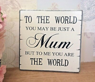 MUM birthday mothers day Christmas  gift shabby vintage chic wall plaque sign