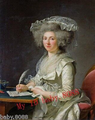 Handicraft Repro oil painting Portrait of a Woman 1787 - Adelaide Labille Guiard