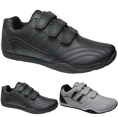 Brand New Mens Faux Leather Gym Running Casual Trainers Shoes Sizes 6-12