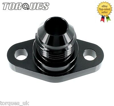 Suzuki GSXR Engine To Cam Cover Oil Feed Adapter In AN-8 (AN8) Head Cooler BLACK