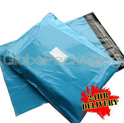 """1000 x Baby Blue STRONG Postal Mailing Bags - 17 x 21"""""""