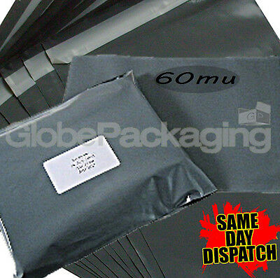 Assortment Of 100 x GREY Mixed Size Mailing Postal Bags