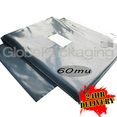 """1000 x STRONG Grey Postal Mailing Bags 14x21"""" - 24HR"""