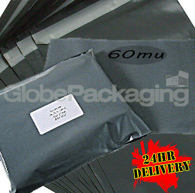 Assortment Of 200 x LARGE Grey MIXED SIZE Mailing Bags
