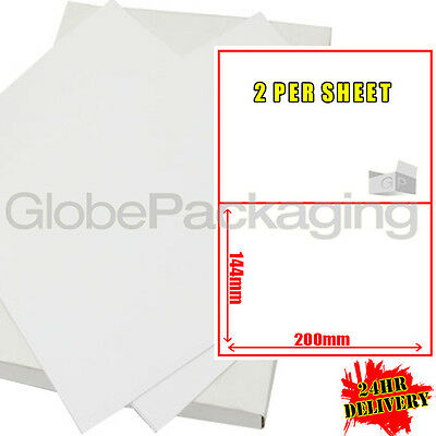 600 Sheets Of Printer Address Labels - 2 Per Page Sheet
